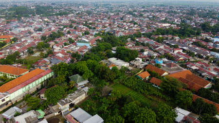 Drone Shot. Aerial footage view of residentials. With a drone. Natural the texture background.