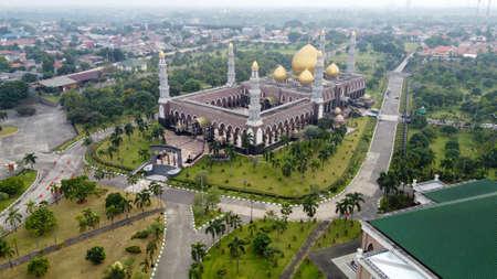 The Largest Mosque Masjid Kubah Emas at Depok, Ramadan Eid Concept background, Travel and tourism. Depok, Indonesia June 15 2020