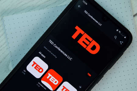 TED dev app on Smartphone screen. TED is a freeware web browser developed by TED Conference LLC. BEKASI, WEST JAVA, INDONESIA. NOVEMBER 3, 2020