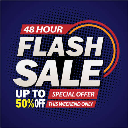 Flash Sale Design for business For Business. Discount Banner Promotion Template. Flash Sale Vetores