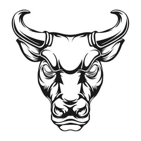 bull head vector illustration