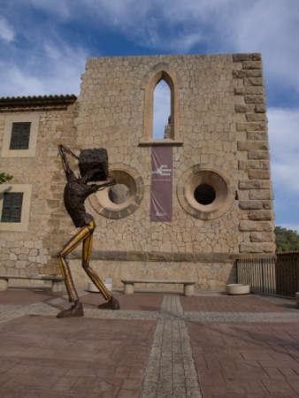 mariano: ESTELLENCS, SPAIN - SEPTEMBER 26,2012 - Carrer Siquia Sculpture Mariano Navares in the village of Estellencs in Mallorca, Spain. Editorial