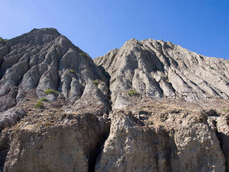 vertices: Mountain scenery on the coast of the Crimea. Stock Photo