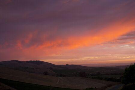 Napa Valley Hills Sunset