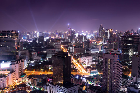 johannesburg: night cityscape in the capital , night life  - can use to background or postcard or montage on your product Stock Photo