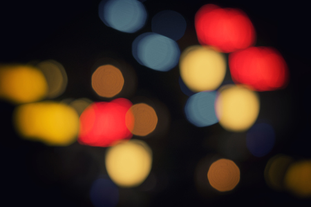 siamensis: colorful bokeh light in black background - can use to display or montage on product Stock Photo