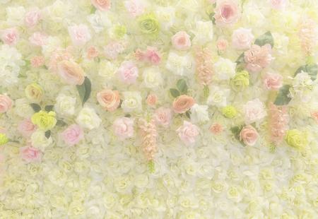 pared abstracta de la flor color de rosa de la boda en el filtro suave - puede utilizar para exhibir o para montar en el producto