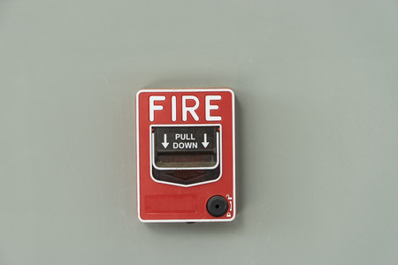 notify: fire alarm notify isolate on gray wall - can use to display or montage on product
