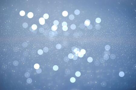 abstract light blue white bokeh for background - can use to display or montage on product Stock Photo