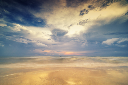 surreal seascape and cloudscape beach - can use to display or montage on product