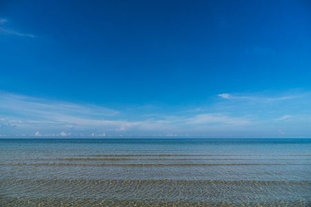 seascape blue sky for vacation time and clear water and cloud in polarize conner image 写真素材