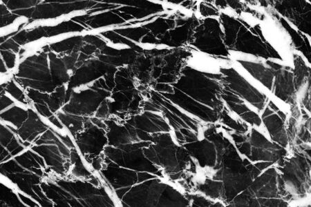 most detail of black marble texture pattern structure design from natural stone slab Stock Photo