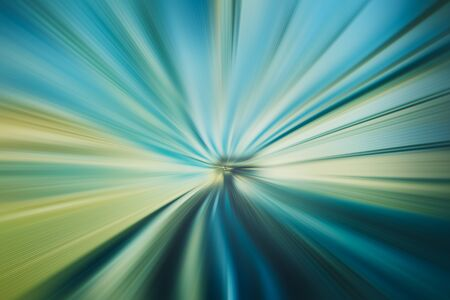abstract speed zoom line patterned green blue tone color background Foto de archivo