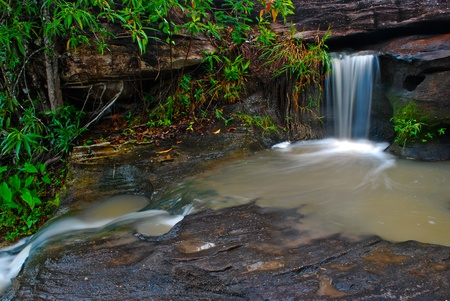 The small waterfall in nature Stock Photo - 8797422
