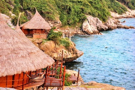 The hut with sea at the noon in thailand island Stock Photo - 10329725