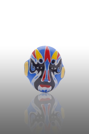The blue mask with reflect on gradient background photo
