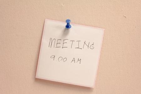 inform information: Meeting short note alert