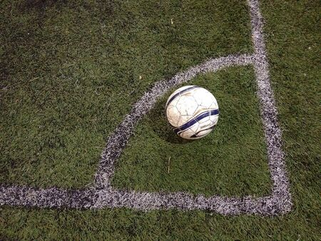 conner: Football conner Stock Photo