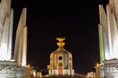 democracy Monument: Thai democracy Monument at night Stock Photo