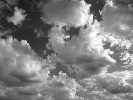 dark: Dark clouds in black and white   Stock Photo