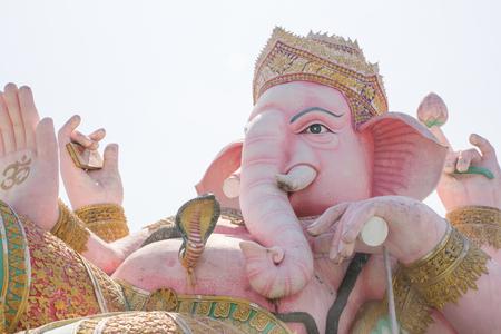 path to wealth: Pink Ganesha god of Hindu