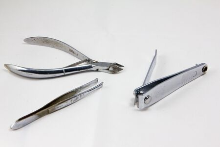 clippers: Clippers and tweezers Stock Photo