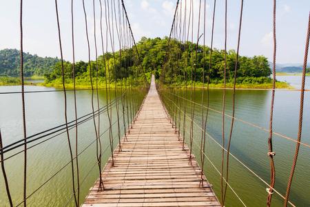 Wire Rope Bridge cross lake to island