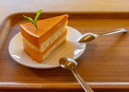 A Thai tea cake