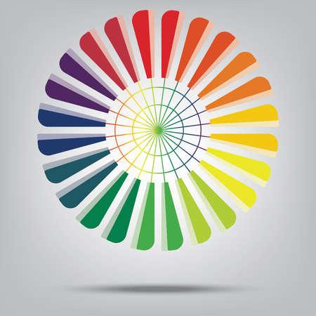 wind wheel: wheel rainbow Illustration