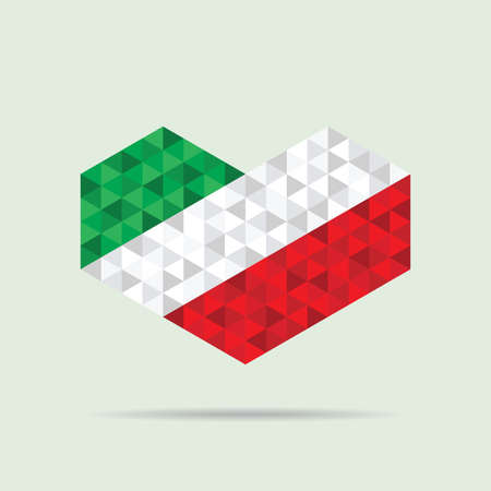 spangled: Heart of Italy Flag