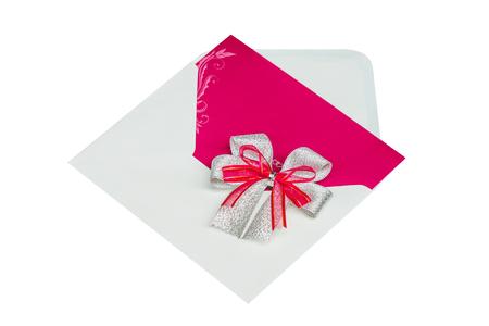 copy spase: Wedding Invitation card of white background Stock Photo