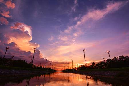 thanon: twilight sky at Utthayan road , Thailand