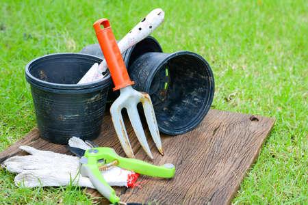 garden: Gardening equipment Stock Photo