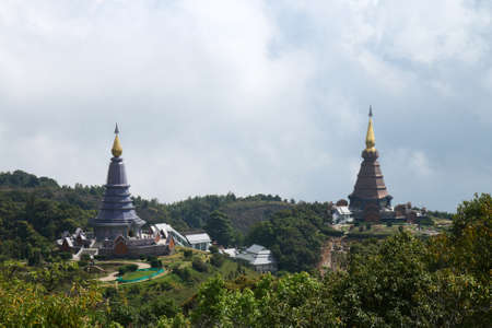 Pagoda at Doi Inthanon Chiangmai Thailand Stock Photo