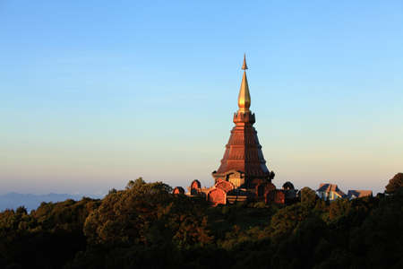 Stupa on Doi Inthanon  Chiang Mai, Thailand Stock Photo