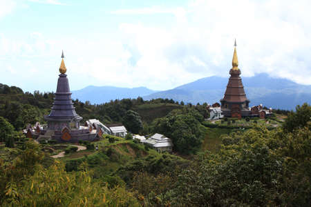 Double pagoda,Doi Inthanon national park of Thailand