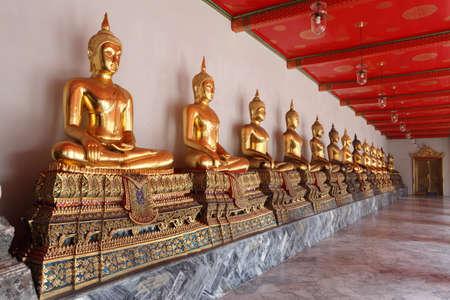 Thai Buddha statue in WAT PHO,Bangkok Thailand