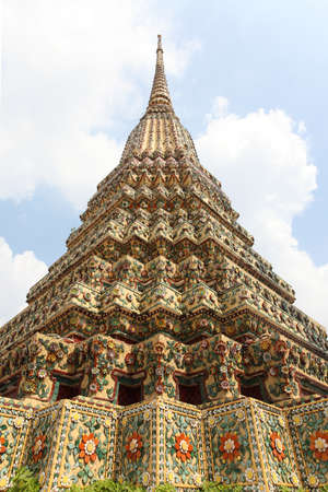 The pagodas of Wat Pho temple  Bangkok, Thailand Stock Photo
