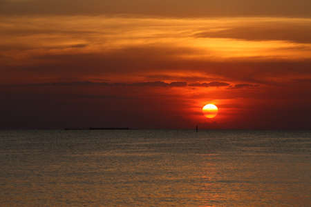Sunset at Bangsan Beach,Chonburi Thailand