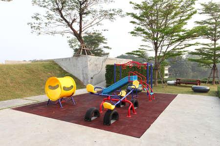 Colorful playground kids