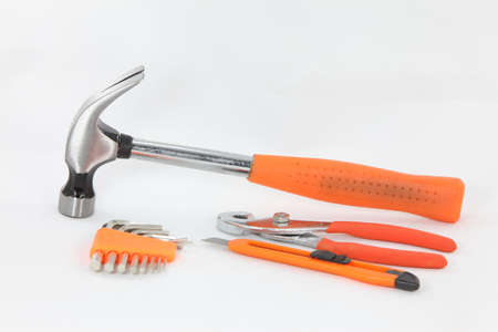 Mechanic tools set isolated photo