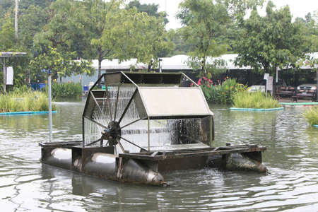 water turbine: water turbine Stock Photo