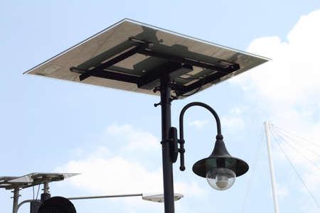 Solar lamp on light poles photo