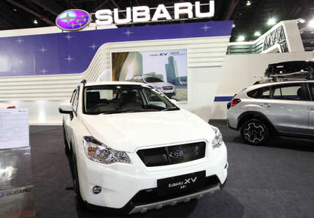 subaru: Subaru XV 2 0 i on display at Bangkok International Auto Salon 2013 on June 20, 2013 in Bangkok, Thailand  Editorial
