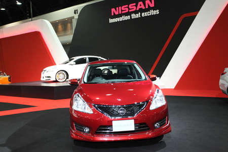 pulsar: Nissan Pulsar on display at Bangkok International Auto Salon 2013 on June 20, 2013 in Bangkok, Thailand  Editorial