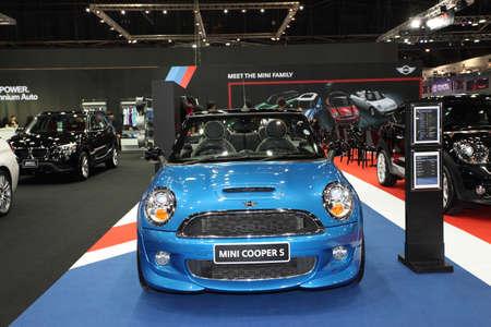 Mini Cooper S on display at Bangkok International Auto Salon 2013 on June 20, 2013 in Bangkok, Thailand