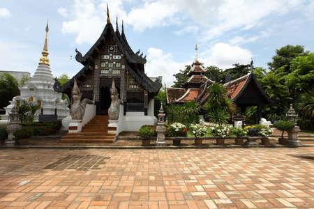 Wat Chedi Luang temple at day, Chiang Mai, Thailand  Stock Photo