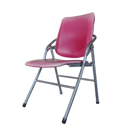 Isolated the old red chair overwhite backgroung - clipping path