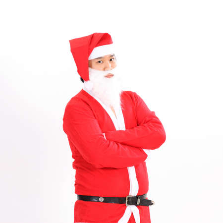 Happy Christmas Santa Claus. Isolated on white . Stock Photo