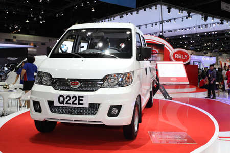 rely: NONTHABURI - NOVEMBER 28: RELY Q22E car on display at The 30th Thailand International Motor Expo on November 28, 2013 in Nonthaburi, Thailand.  Editorial